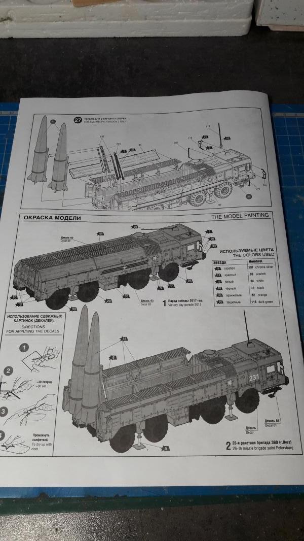 "Ouvre boite ""Iskander-M"" SS-26 ""Stone"" de chez Zvezda au 1/72 642"