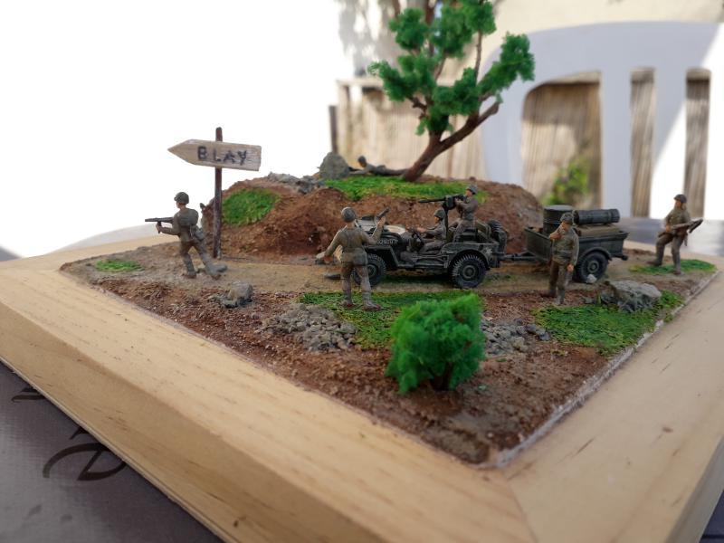 1st Infantry Division en route pour la libération de Blay (14400) 9 juin 1944 fini!!! B11
