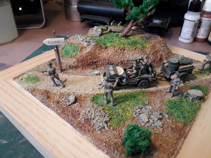 1st Infantry Division en route pour la libération de Blay (14400) 9 juin 1944 fini!!! L10