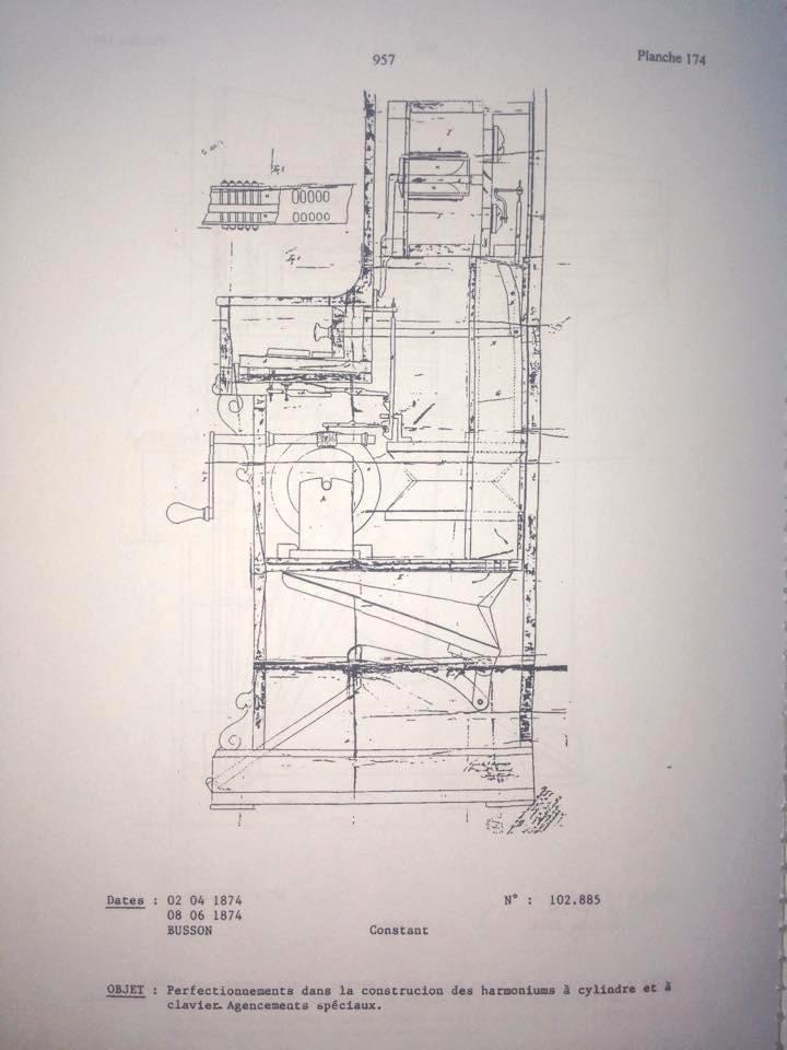 Harmonium à cylindre - BUSSON - BREVETÉ, Paris Skizze10