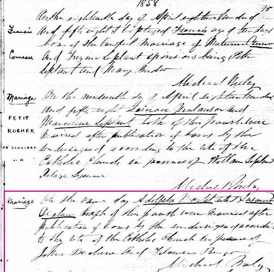 Adolphe Martel et Suzanne Deschênes (Miville) - Page 2 Mariag12