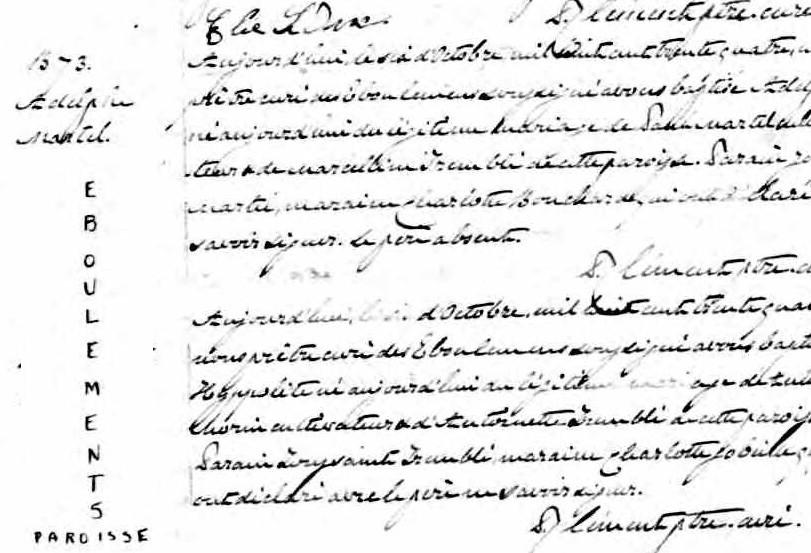 Adolphe Martel et Suzanne Deschênes (Miville) - Page 2 Naissa14