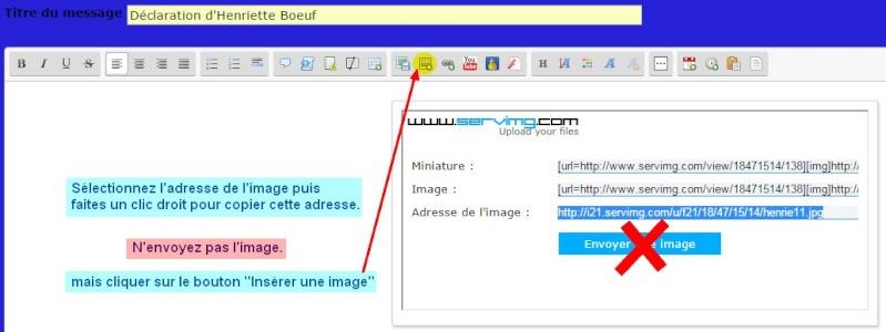 6- Comment insérer une image dans votre message ? Insyre14