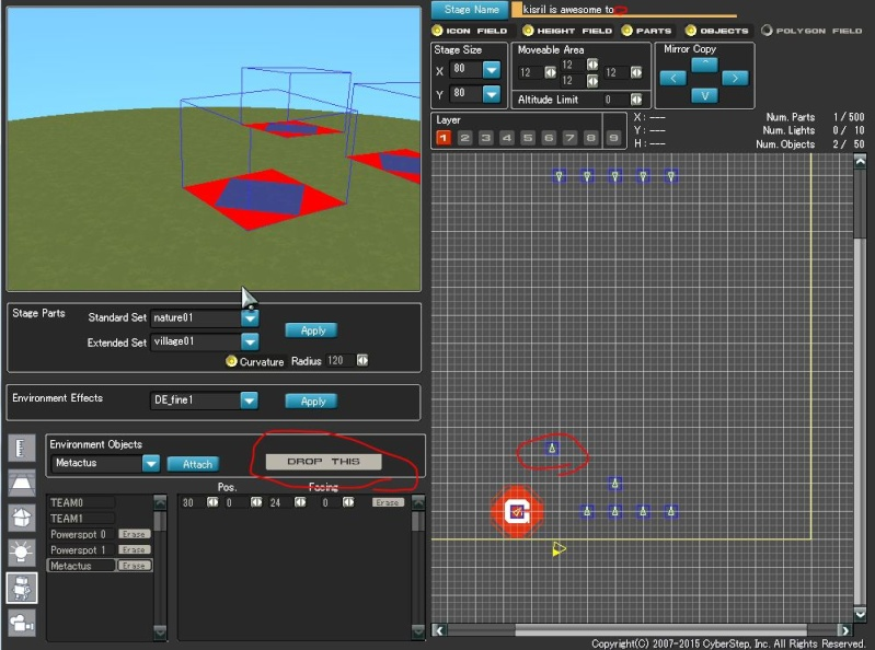 Stage Editor tutorial Object16
