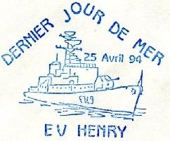 * ENSEIGNE DE VAISSEAU HENRY (1965/1994) * 940410