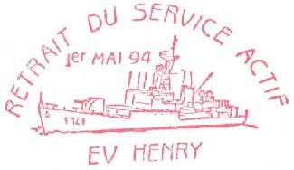 * ENSEIGNE DE VAISSEAU HENRY (1965/1994) * 940510