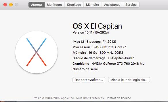 """Disponibilité de """"OS X El Capitan GM Candidate"""" - Page 2 --12"""