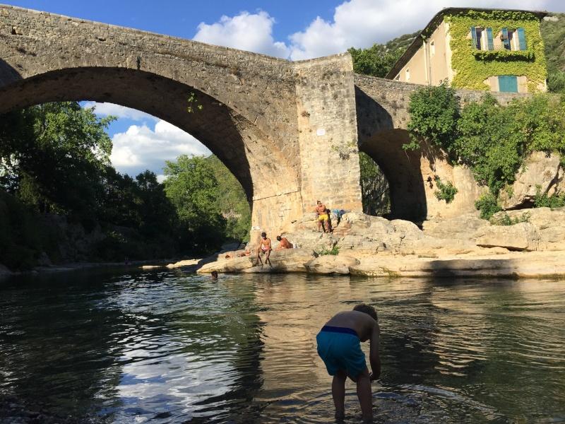Camping municipal du pont vieux à Avèze (30) Cévènnes Img_5021