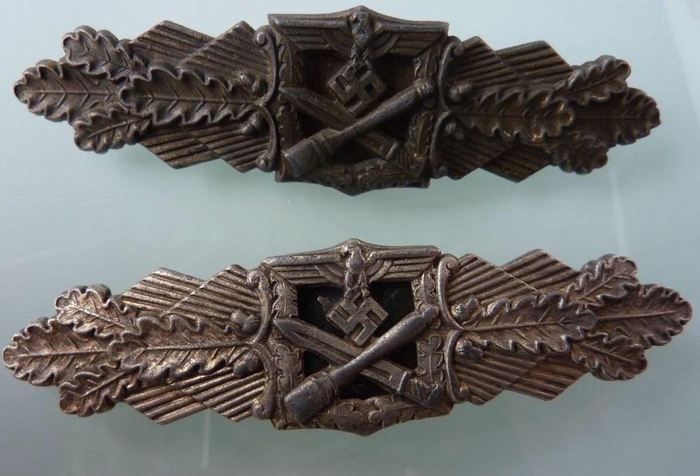 Barrettes de combat rapproché X 2 Juncker Argent & FLL Bronze P1260110