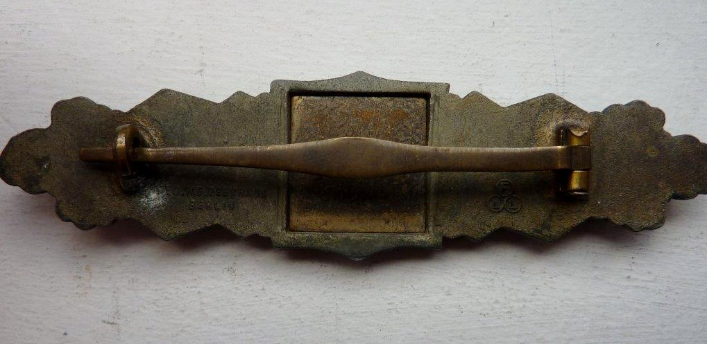 Barrettes de combat rapproché X 2 Juncker Argent & FLL Bronze P1260116
