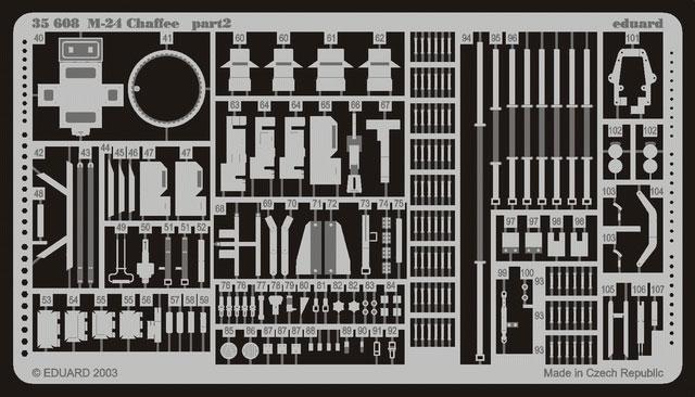 "M-24 Chaffee ""Indochine"" - ITALERI 244 + photo-découpe Eduard 35608 + canon RB Model 35B27 + paquetages Blackdog T35070 Eduard12"