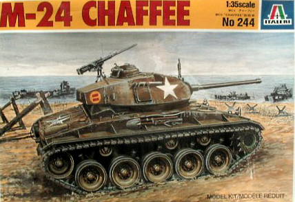 """M-24 Chaffee """"Indochine"""" - ITALERI 244 + photo-découpe Eduard 35608 + canon RB Model 35B27 + paquetages Blackdog T35070 Italer10"""