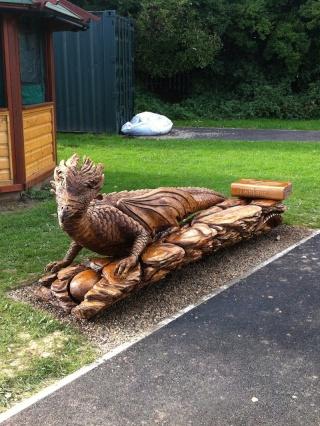 Sculptures bois Dragon10