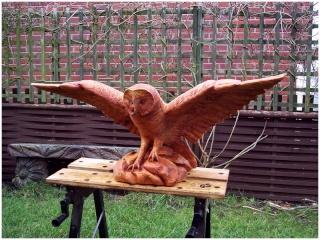 Sculptures bois Hiboux10