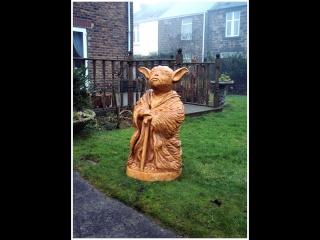 Sculptures bois Yoda10
