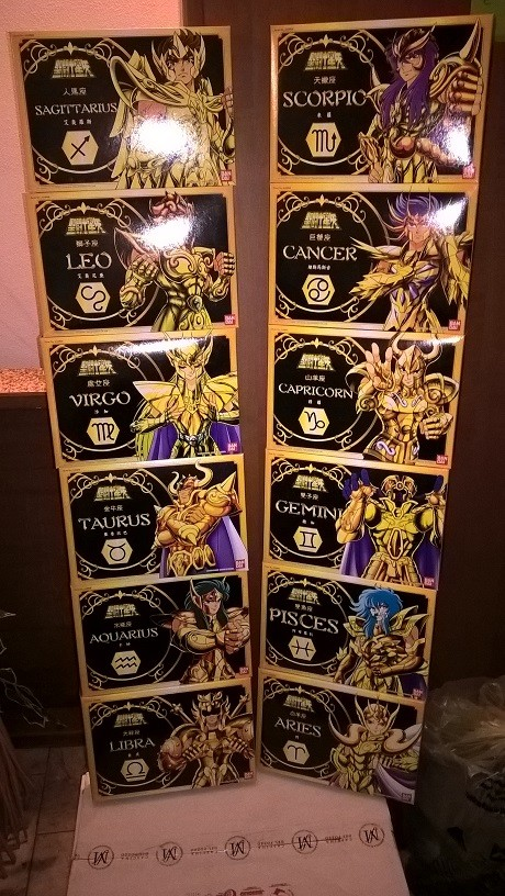 SAINT SEIYA - CAVALIERI DELLO ZODIACO - 12 GOLD SAINTS - 12 CAVALIERI D'ORO - BANDAI 2003 Wp_20111