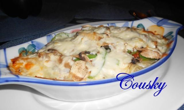 Spaghetti gratiné ( ma technique ) Dscn0010