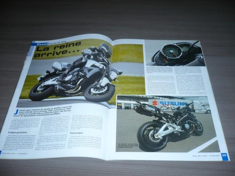magazine belge moto 80 sur la B-King P1130410