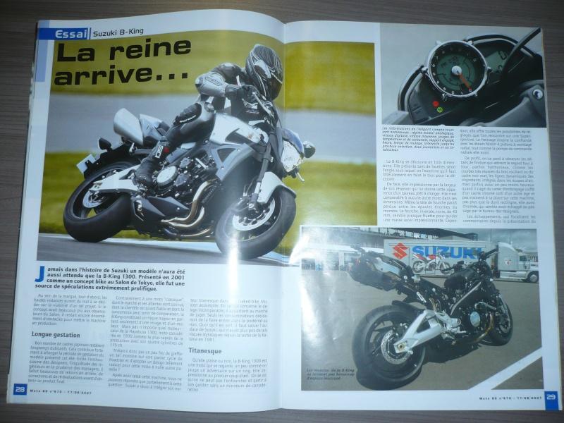 magazine belge moto 80 sur la B-King P1130411