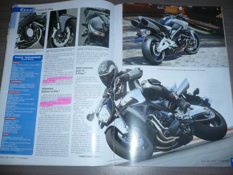 magazine belge moto 80 sur la B-King P1130413