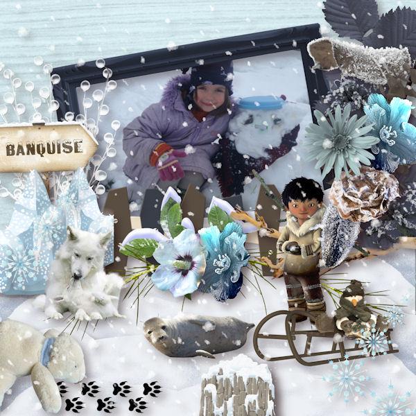 Odyssée Banquise - collab Bijou7 Design, Floralys, Malo et moi - pour le 1er décembre 2015 Templa16