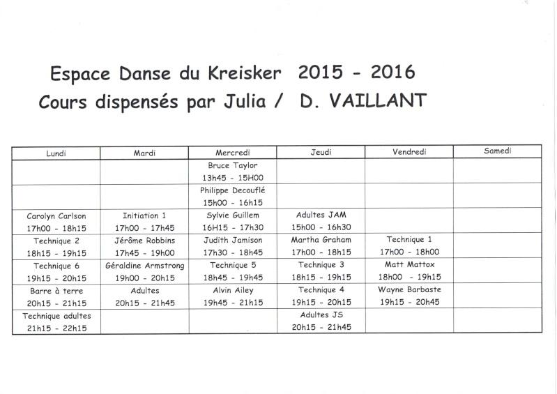 Planning cours Julia modern/jazz 2015-2016 Ju201510