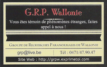 GRPW Groupe De Recherches Paranormales De Wallonie Scan0011