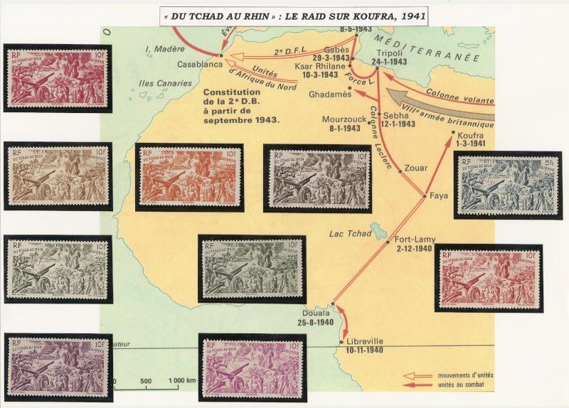 "Du Tchad au Rhin : Guadeloupe Et Carte ""raid sur Koufra"" Tchad_10"