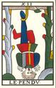 tirage tarot de marseille mois de janvier Pendu111