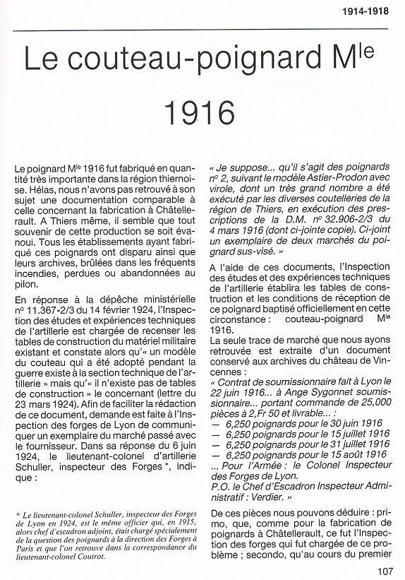 Le Couteau poignard Mle 1916 - Page 2 Vengeu11