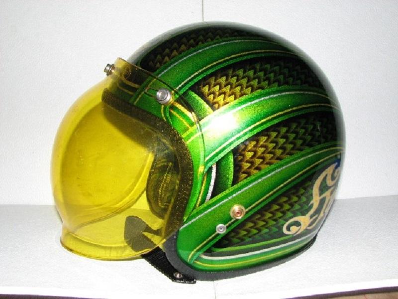 peinture sur  casques Helmet10