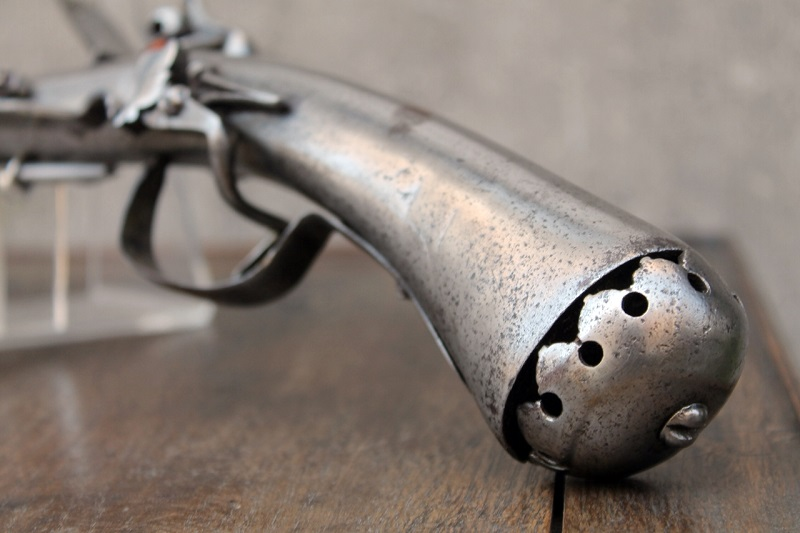 Rare pistolet à silex 17 ème siècle 17th-c13