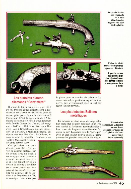 Rare pistolet à silex 17 ème siècle 23118-10