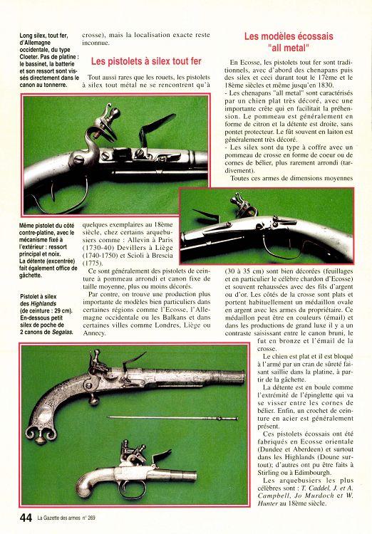 Rare pistolet à silex 17 ème siècle 23118-11