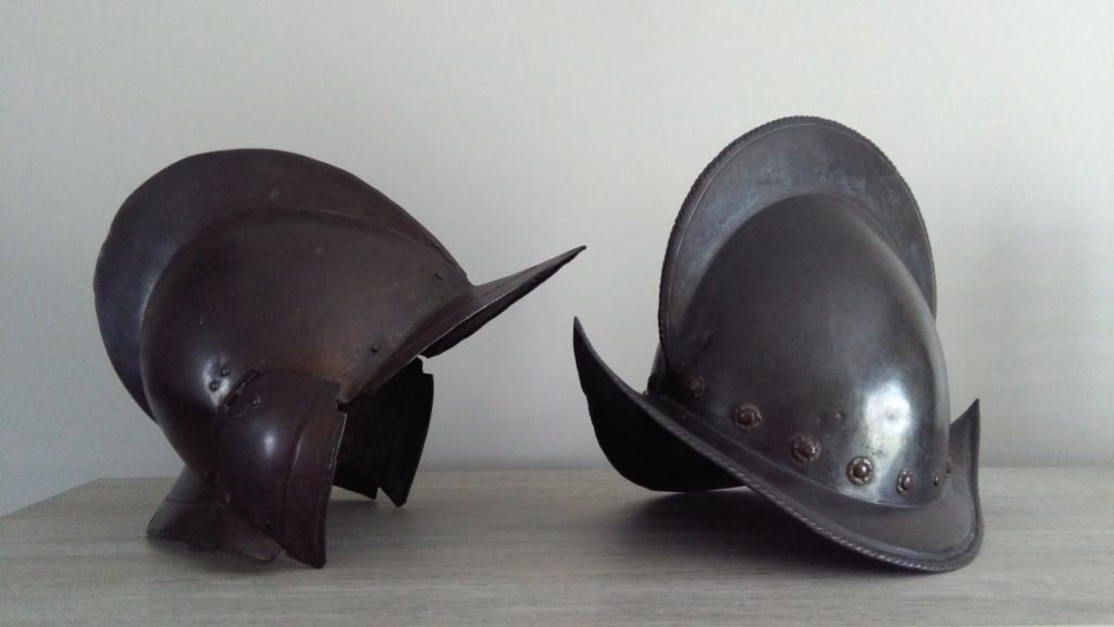 Bourguignotte et morion 16ème - 17ème siècle Img_2069
