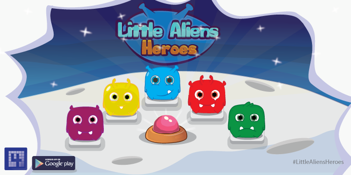 Little Aliens Heroes para Android - Match-3 Game Banner10