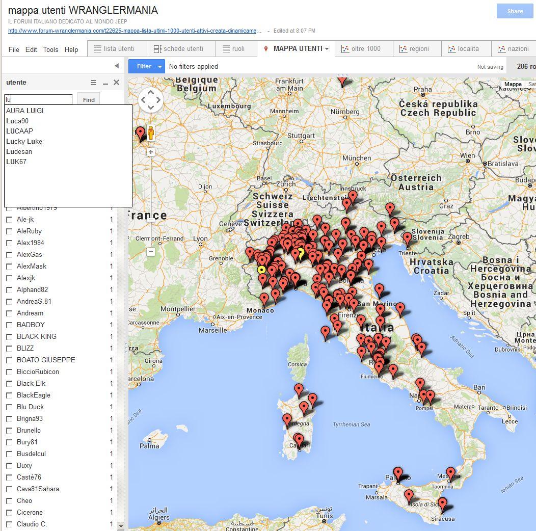 mappa lista ultimi 1000 utenti attivi creata dinamicamente - Pagina 4 Utenti10