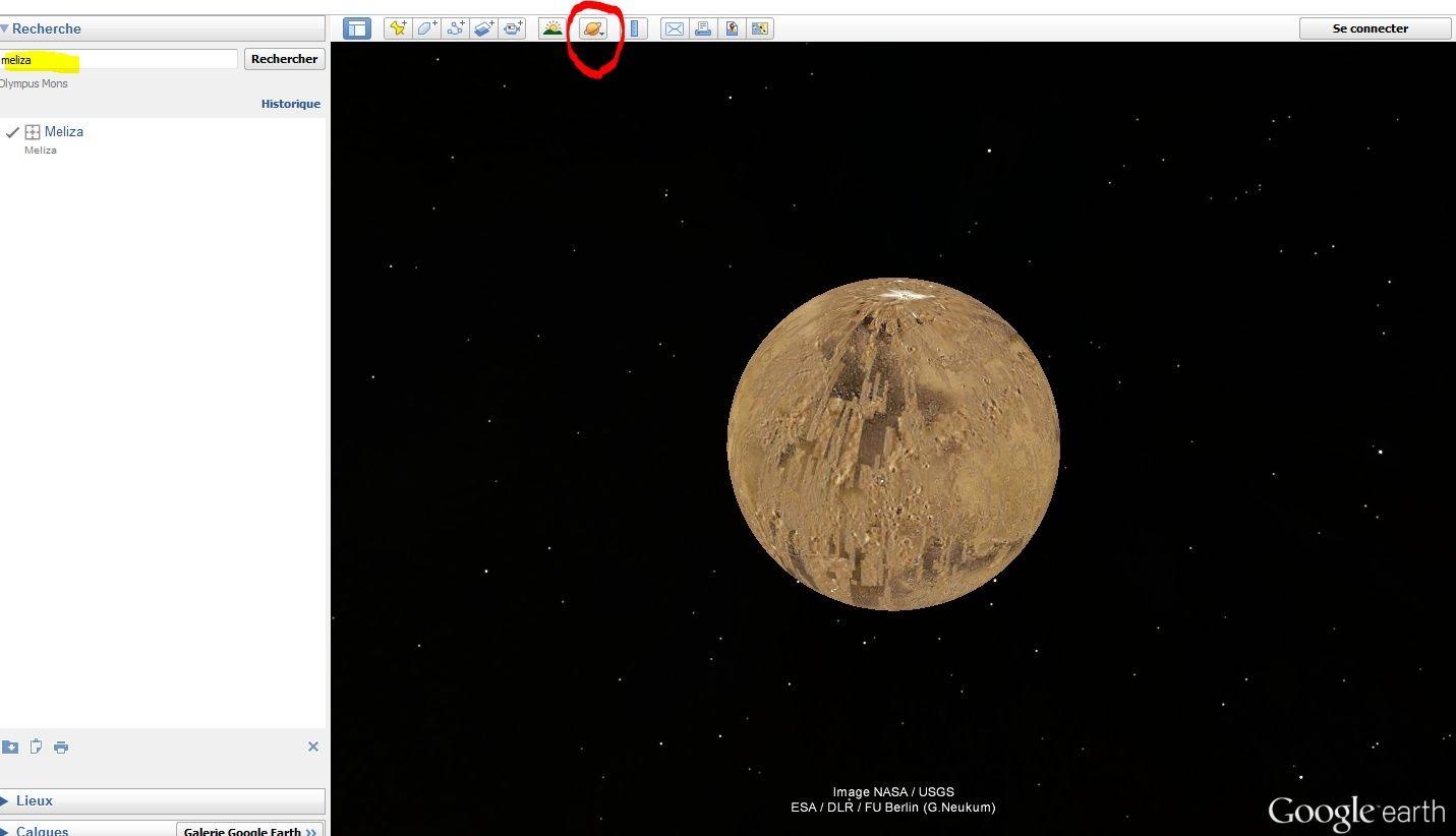 Un martien  vous attend sur google earth Easter10