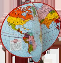 la majorité des cartes du monde sont fausses ( débat) - Page 2 O-glob10