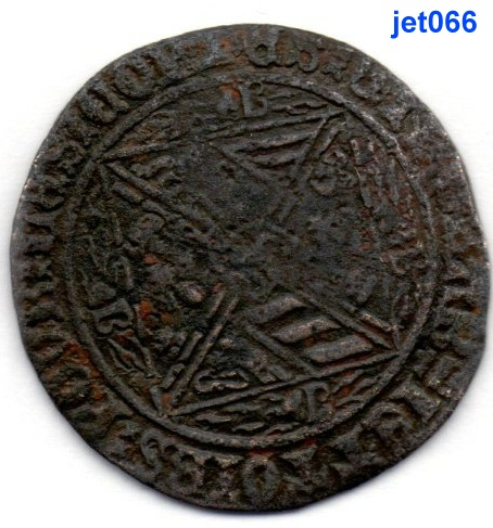 jeton de compte de Bourgogne aux briquets à identifier -  médiéval  Jet06622
