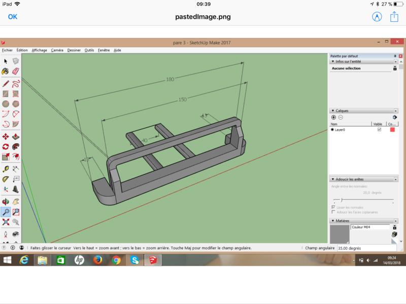 [Tuto] Modelisation 3D - Tuto 2 sur Sketchup - Importation, faire des groupes, modification de pieces. 15210110