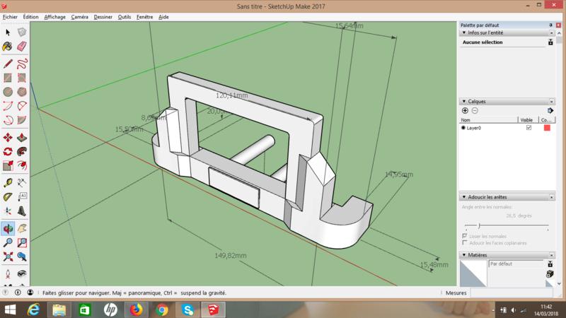 [Tuto] Modelisation 3D - Tuto 2 sur Sketchup - Importation, faire des groupes, modification de pieces. 15210510