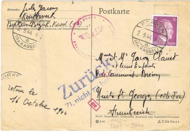 Tarif postal du 25 aout 1944 du Reich vers la France - méconnu des guichetiers et du peuples ?? Ccf11010