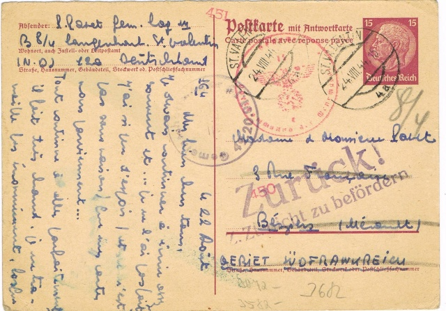 Tarif postal du 25 aout 1944 du Reich vers la France - méconnu des guichetiers et du peuples ?? Ccf23013