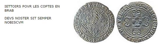 jeton de compte de Bourgogne aux briquets à identifier -  médiéval  Iettoi10