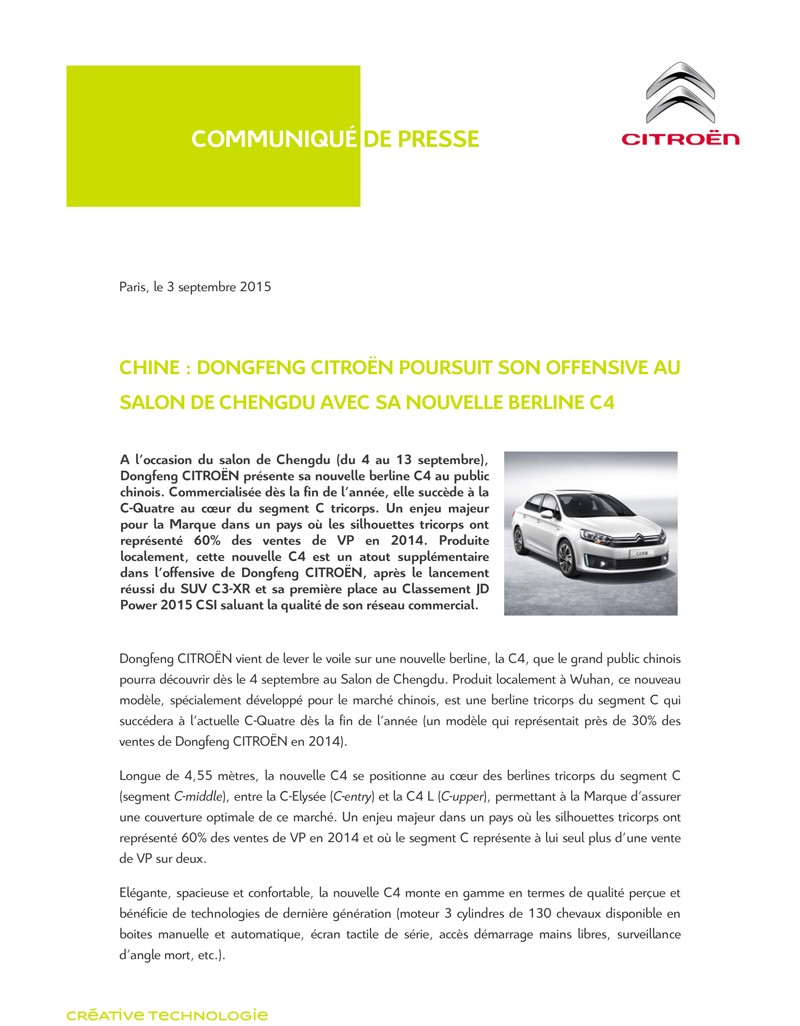 [SUJET OFFICIEL][CHINE] Citroën C4 C-Quatre [BZ3] - Page 7 Cp_che10