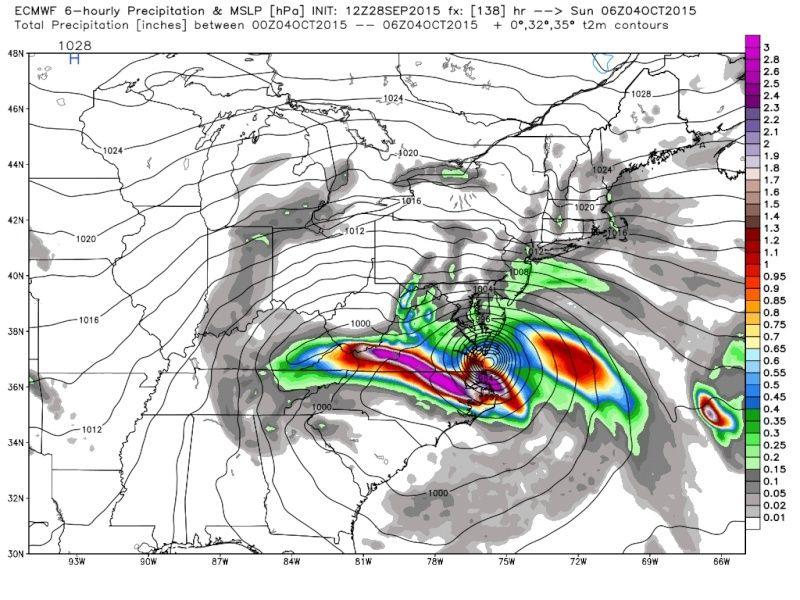 Hybrid / Sub-Tropical Storm Possible Sunday-Monday (UNCERTAINTY) Ecmwf_12