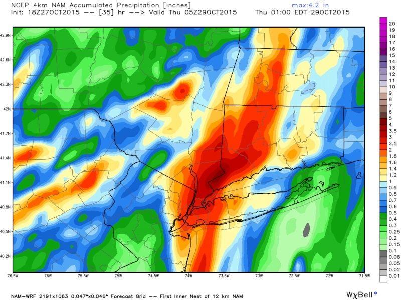 Rain & Wind Storm Wednesday 10/28 Nam10