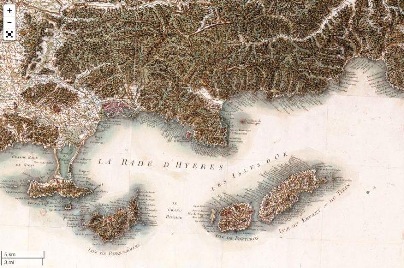 Voyage dans la France du XVIIIe siècle : les cartes de Cassini numérisées Captu126