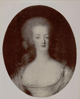 Portrait de Marie-Antoinette en buste par Vigée Le Brun (1781) Captur16
